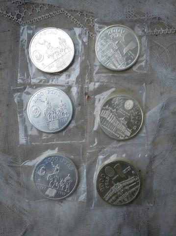 Monedas 2000Pts Plata Nuevas Precintadas