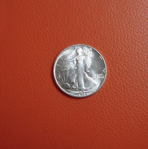 Medio Dolar Usa De 1916 De Dos Caras Igu