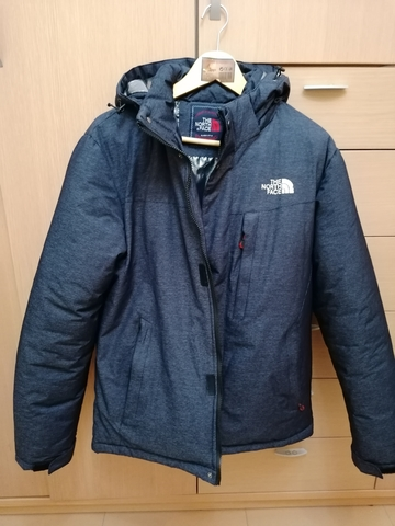 Chaqueta con Capucha HYVENT The North Face RojoGris Nieve
