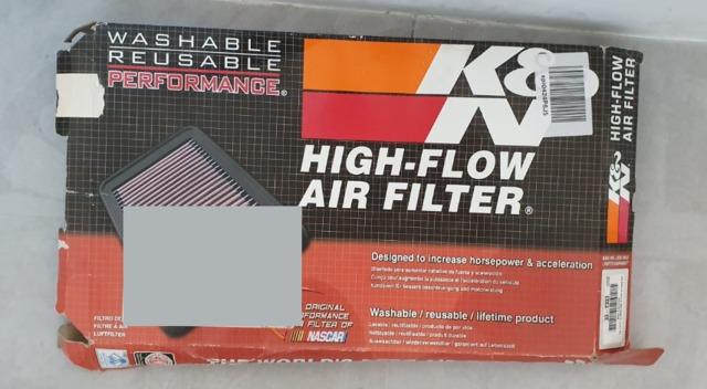 Lavable y Reutilizable K/&N 33-2333 Filtro de Aire Coche