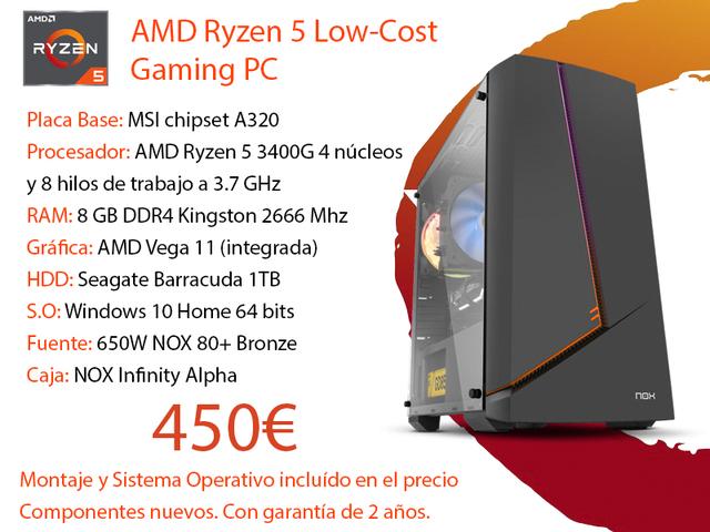 AMD RYZEN 5 LOW-COST GAMING PC - foto 1