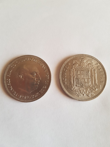 Moneda De Cinco Pesetas 1949 Franco