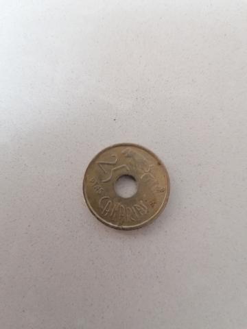 Moneda De 25 Pesetas Canarias