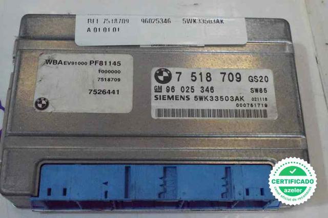 BMW E46 Caja De Cambios Automática Ecu Auto Módulo Ecu 7518709 96025346 5wk33503ak