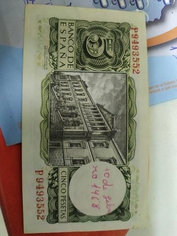 Billetes De 5 Y 100 Pesetas