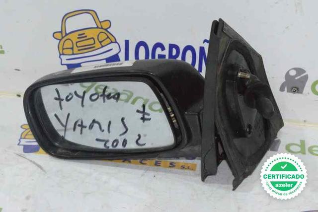 Toyota Yaris 1999-2005 Espejo Retrovisor Calefactable Izquierdo