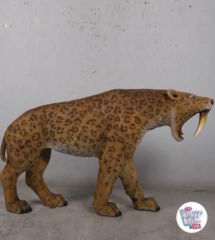 FIGURA DECORATIVA TIGRE DIENTES DE SABLE - foto 4