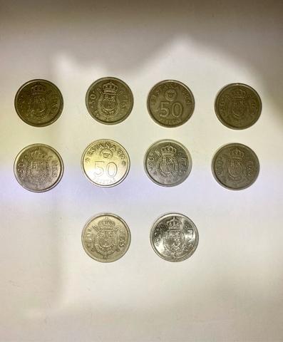 10 Monedas De 50 Pesetas