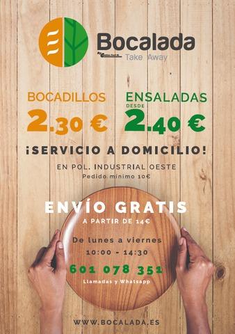 BOCADILLOS Y ENSALADAS A DOMICILIO - foto 1