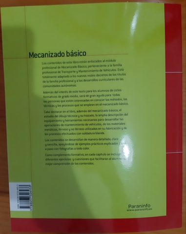 LIBRO MECANIZADO BÁSICO,  PARANINFO NUEVO - foto 4
