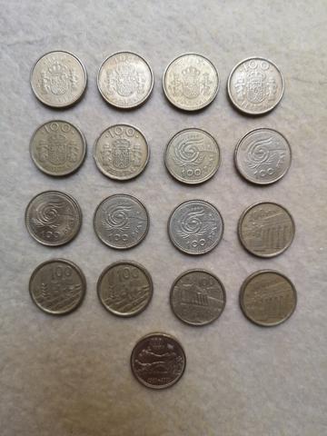 Monedas Antiguas De Cien Pesetas