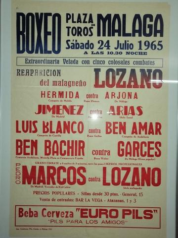 UN CARTEL DE BOXEO HISTÓRICO 55 AÑOS - foto 1