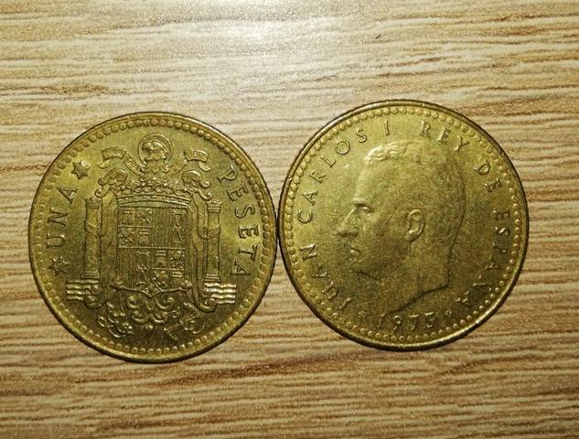 Monedas 1 Peseta Juan Carlos 1, 1975