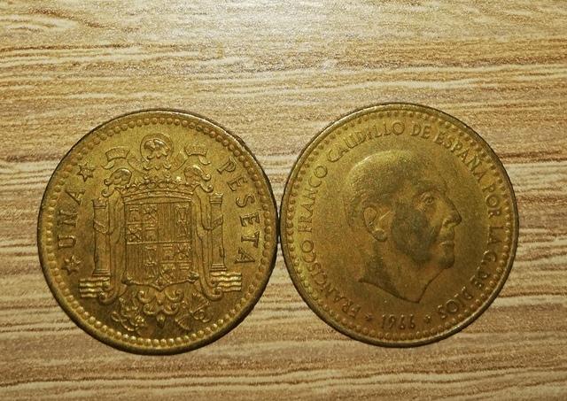 Moneda 1 Peseta Franco 1966