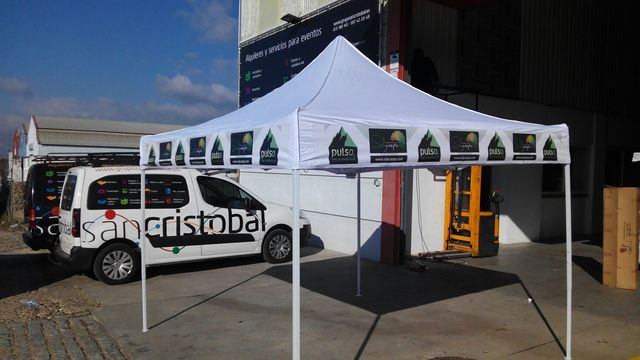 CARPA PLEGABLE 3X3 SIN LATERALES - foto 1