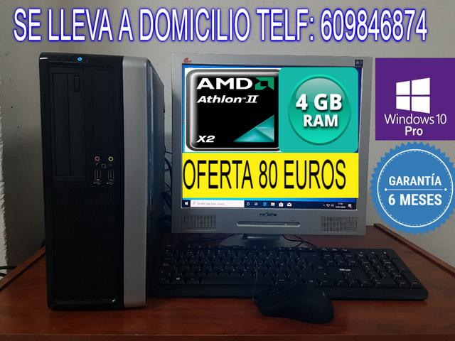 ORDENADOR DUAL CORE 4 GB RAM GARANTIA - foto 1