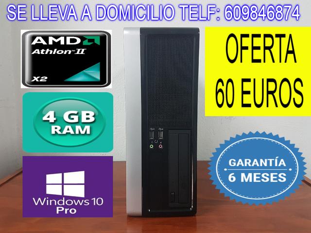 ORDENADOR AMD IIX2 CON 4 GB RAM 320 HDD - foto 1