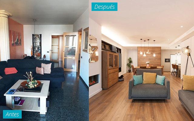piso reformado antes y despues de adelgazar