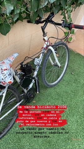 VENDO BICI MOTO 80CC - foto 1
