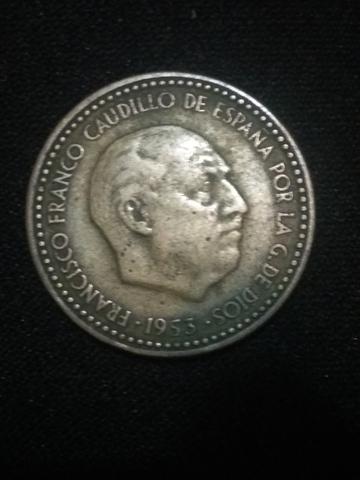 Moneda 1 Peseta 1953