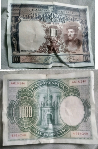 Billete Antiguo De 1000 Pesetas