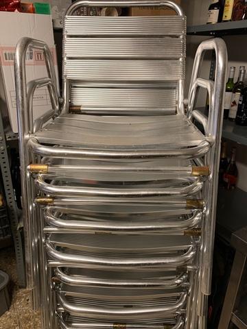 8 Sillas De Aluminio Para Terraza