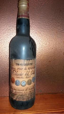 Botella De Vino Palacio Del Cid 1973