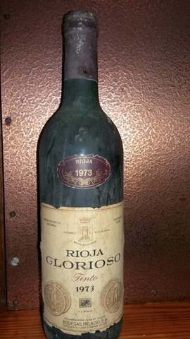 Botella De Vino Rioja Glorioso 1973