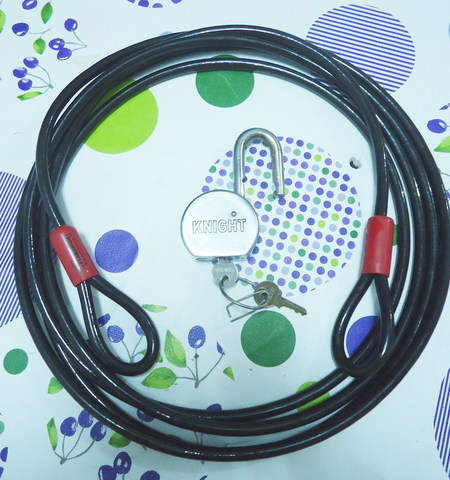Cable Antirrobo Con Candado Seguridad