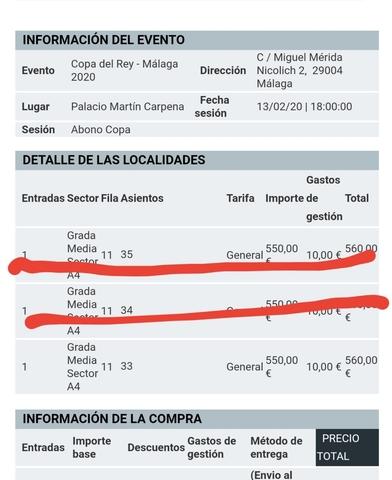 ABONO COPA DEL REY DE BALONCESTO 2020 - foto 1