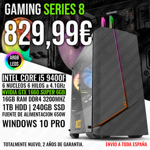 PC GAMING I5 9400 GTX 1660 SUPER 16GB - foto 1
