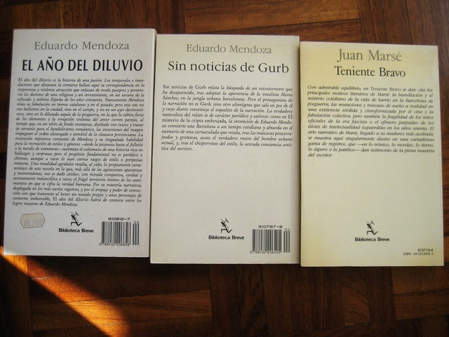 MENDOZA+MARSE:  SEIX BARRAL, 3 NOVELAS - foto 5