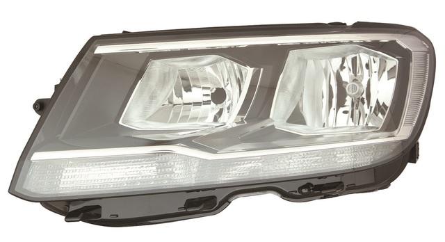 VW Caddy//Maxi Protector de Parachoques Trasero ABS resistente negro 2004-2015
