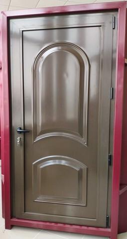 Puerta Entrada Aluminio Marrón 95X212 Cm