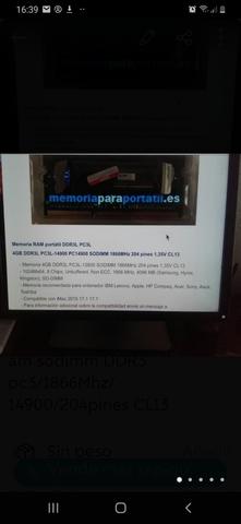 RAM 2X4 GB DDR3 PC14900/1866MHZ - foto 5