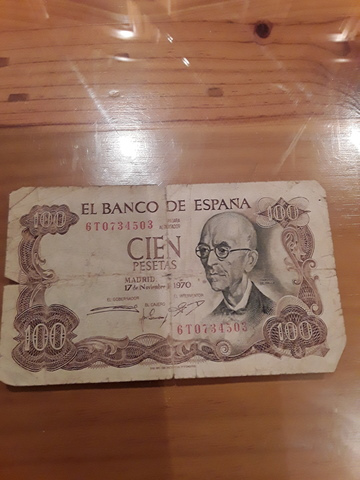 Vendo Billete De 100 Pesetas