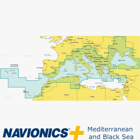 Navionics MicroSD Carta n/áutica zona 43XG Mar Mediterraneo y Mar Negro