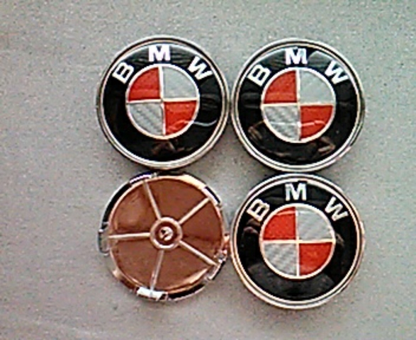 1//4 TAPAS LLANTAS BMW 68MM AZUL BLANCO CENTRO RUEDA SERIE 1 3 5 6 7 EMBLEMA LOGO