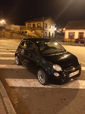 Funda de clave Gratis Nuevo Original Fiat 500 Negro Brillante Espejo cubre