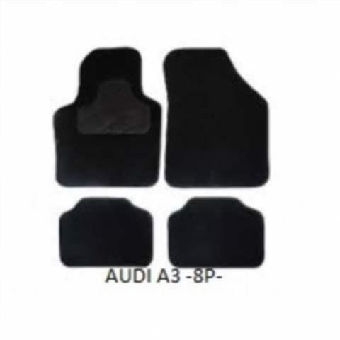Alfombrillas de goma a medida para Audi A3 Sportback desde 2004 tipo cubeta 3D