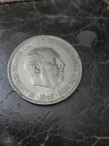 Moneda 5 Pesetas De Franco.