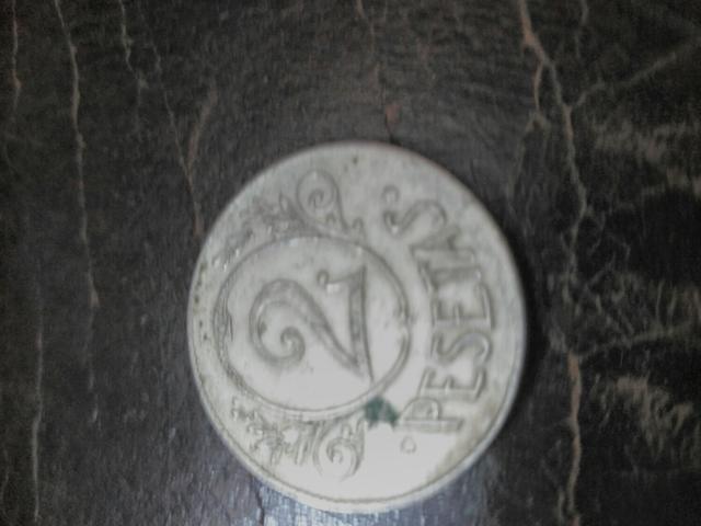 2 Monedas Token De 2 Pesetas