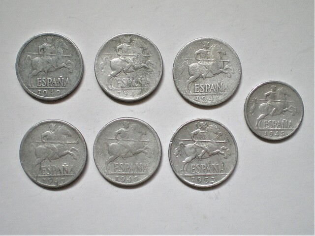 Lote De Monedas De Franco De Aluminio