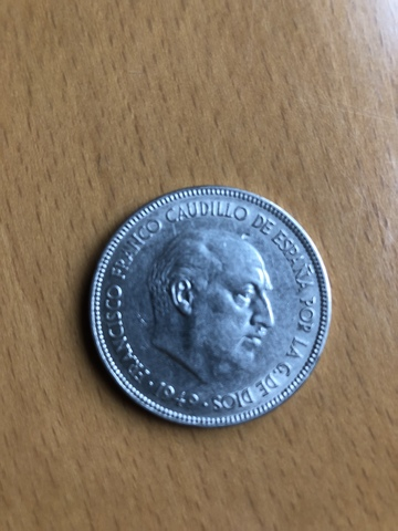 Moneda 5 Pesetas De 1949