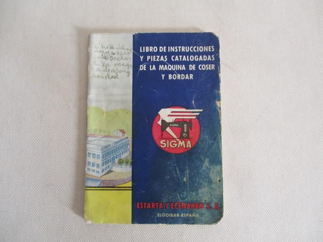 INSTRUCCIONES MÁQUINA DE COSER SIGMA.  - foto 1