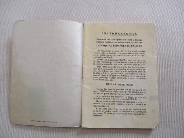 INSTRUCCIONES MÁQUINA DE COSER SIGMA.  - foto 3