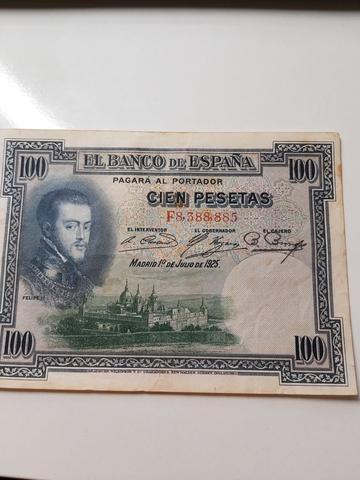 11 Billetes De Cien Ptas Julio 1925