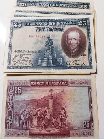 16 Billetes De 25 Pesetas 1928