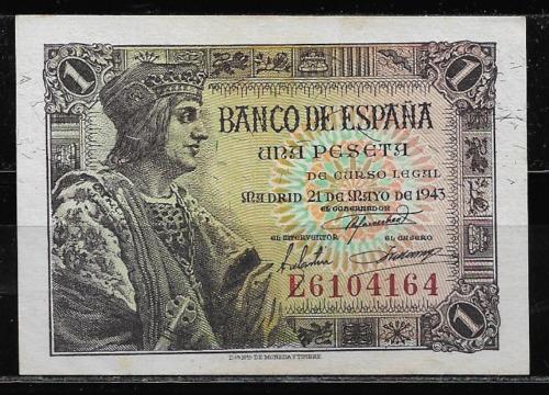 Billete 1943 Fernando Catolico