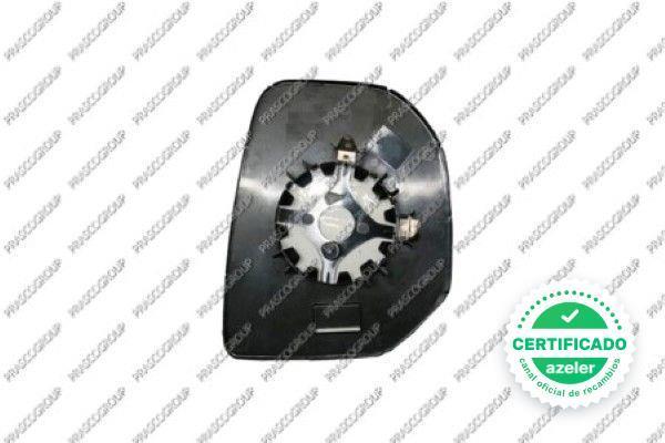 Negro exterior derecha eléctricamente calefactable convexo para citroen peugeot 8152f7